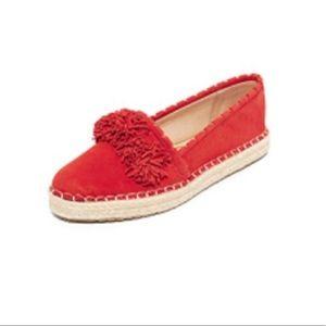 Sam Edelman suede Issa red espadrille loafers